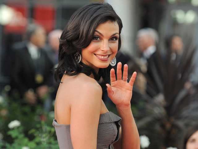 Actress Morena Baccarin arrives at the 64th Primetime Emmy Awards at the Nokia Theatre on Sunday in Los Angeles.