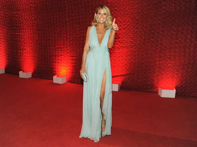 Heidi Klum arrives at the 64th Primetime Emmy Awards Governors Ball on Sunday in Los Angeles.