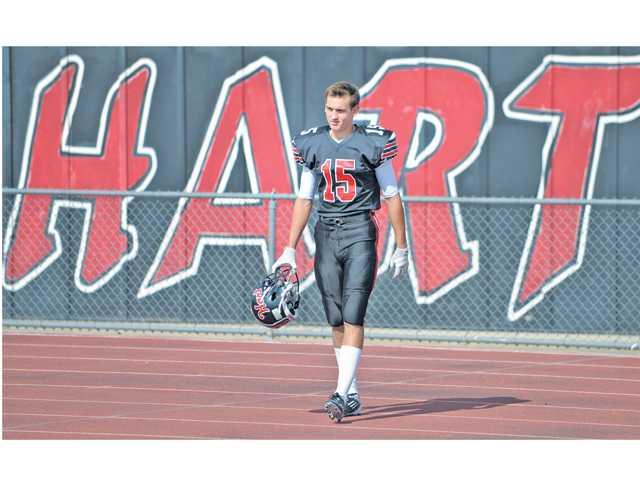 Hart junior wide receiver Davis Koppenhaver overcame cancer at the age of 11 and is now an integral piece in the Hart offense.