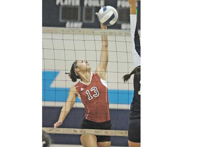 Hart senior opposite Kathryn Cambra has had a stellar season so far.