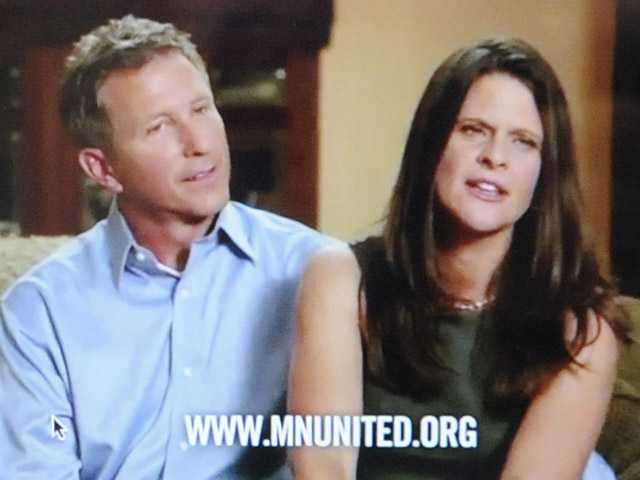 This frame grab taken from YouTube on Sept. 17 with permission of Minnesotans United for All Families shows John, left, and Kim Canny, Catholic Republicans from Savage, Minn., in a commercial in which they say they oppose a proposed constitutional amendment this November that would ban gay marriage.