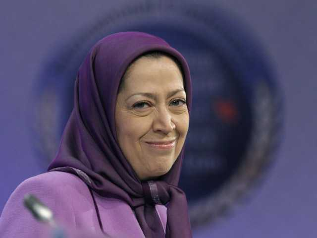 In this Jan. 25, 2011, photo, Maryam Rajavi, president-elect of a Iranian opposition party , smiles in Brussels.
