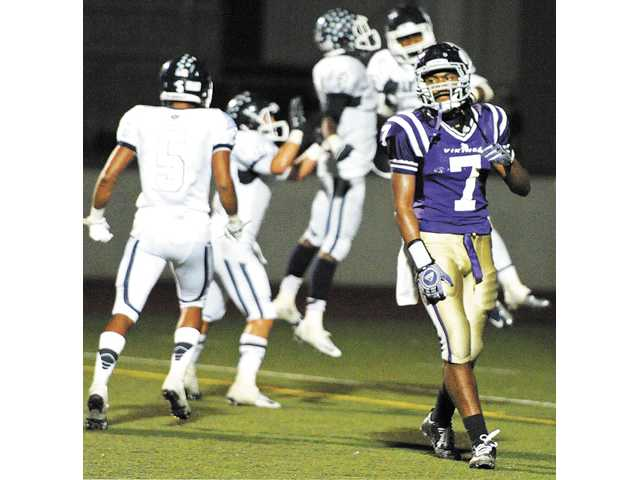 Valencia defensive back Tedric Thompson walks away from the field during on Friday night's at Valencia High.