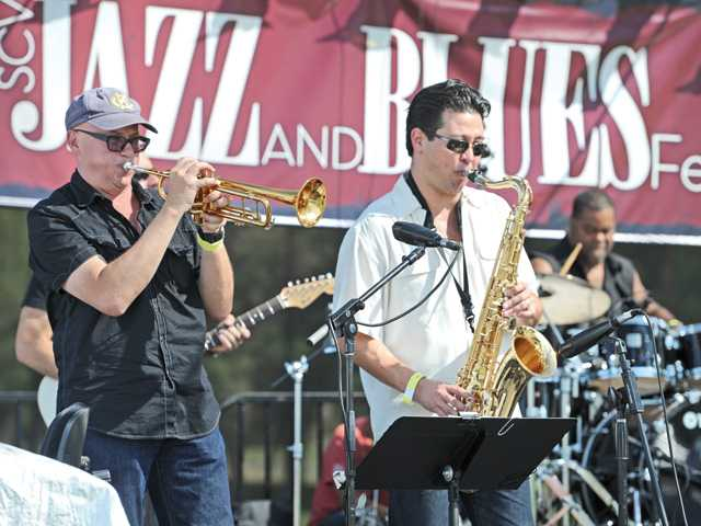 Teresa James & The Rhythm Tramps perform at the SCV Jazz and Blues Festival held at Valencia Country Club on Saturday.