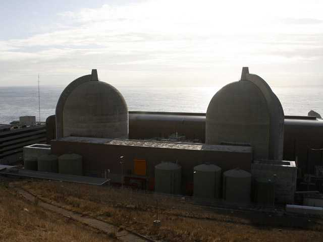 In this 2008 photo, Pacific Gas and Electric's Diablo Canyon Power Plant's nuclear reactors are seen in Avila Beach, Calif.