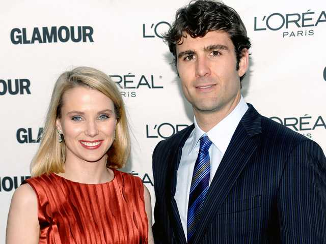 Yahoo CEO, Marissa Mayer, and Zachery Bogue attend the Glamour Magazine 2009 Women of the Year Awards at Carnegie Hall in New York.