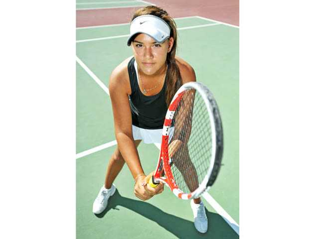 Only a freshman, Hart High tennis player Natalia Munoz has already made an impact on the Foothill League, going 23-1 to this point in the 2012 season.