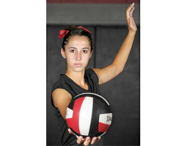 Hart senior outside hitter Kathryn Cambra has 102 kills through her team's first 12 matches.