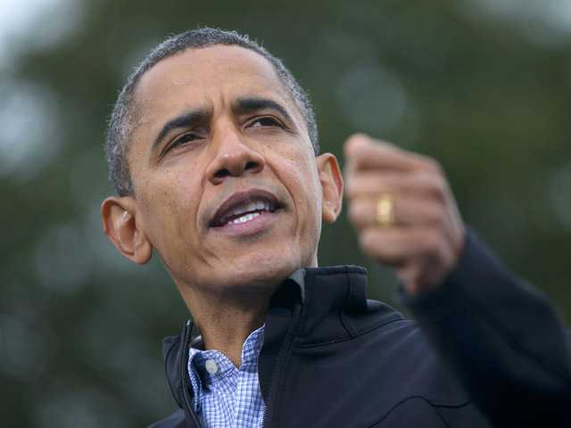 President Barack Obama speaks during a campaign event at Sloan's Lake Park, Thursday, Oct. 4, 2012, in Denver.