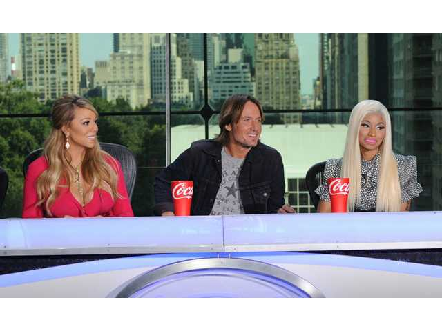 "Fox shows the new judges for the singing competition series, ""American Idol,"" from left, Mariah Carey, Keith Urban and Nicki Minaj."