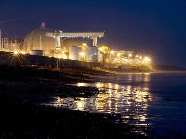 The San Onofre nuclear power plant sits along Pacific Ocean coastline in San Onofre, Calif.