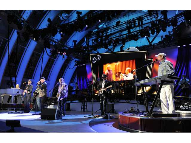 In this June 2, 2012 file photo, The Beach Boys perform at the Hollywood Bowl in Los Angeles.