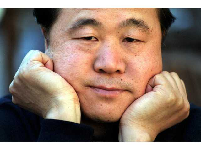 This is a May 2001 file photo of Chinese writer Mo Yan, taken in Stockholm, Sweden. Mo won the 2012 Nobel Prize for literature.