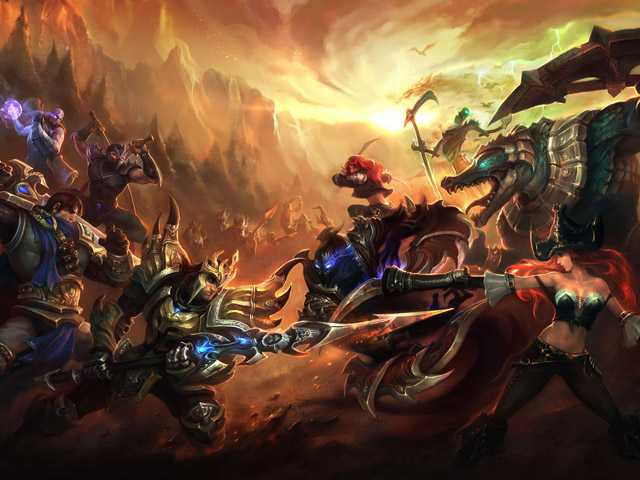 "This image provided by Riot Games shows publicity artwork for the videogame ""League of Legends."""