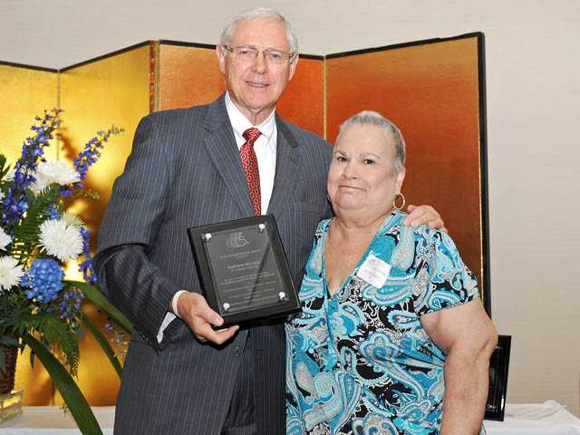 Los Angeles County Supervisor Michael Antonovich with Kathleen Sturkey, executive director of the Los Angeles Residential Community Ranch.