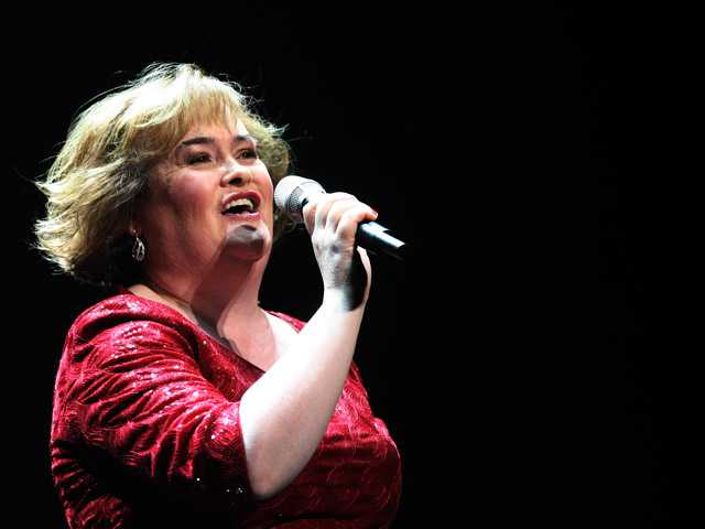 In this March 27 photo, Susan Boyle performs during her musical 'I Dreamed A Dream' at the Theatre Royal in Newcastle, England.