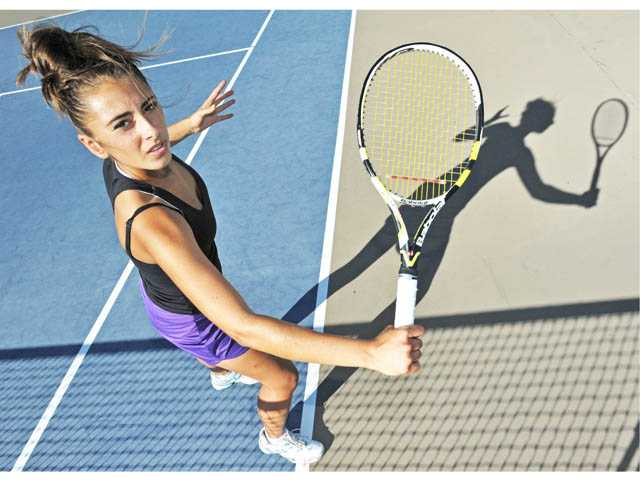 Valencia senior Brigitta Benitez has now been a part of three Foothill League championships while on the varsity tennis team.