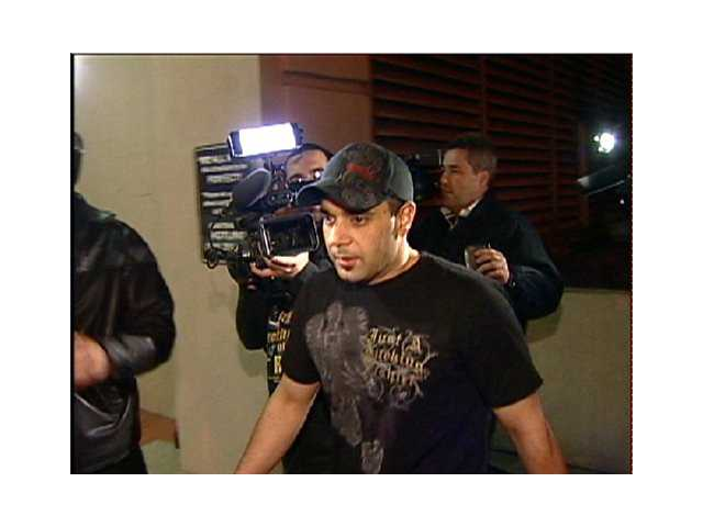 This Jan. 31, 2008 video frame grab shows Sam Lutfi leaving UCLA medical center after visiting Britney Spears in Los Angeles.