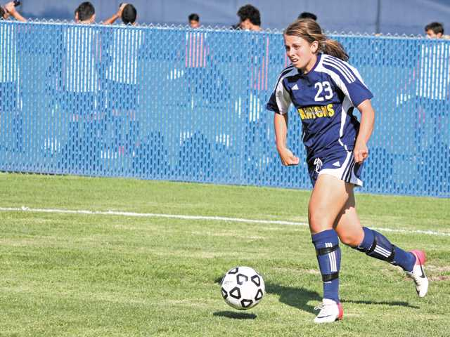 College of the Canyons sophomore Katie Colleta is fifth in the Western State Conference, South Division with six goals.