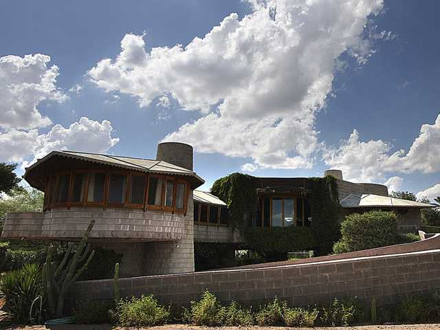 A 1952 Frank Lloyd Wright-designed home in the Arcadia neighborhood of Phoenix.