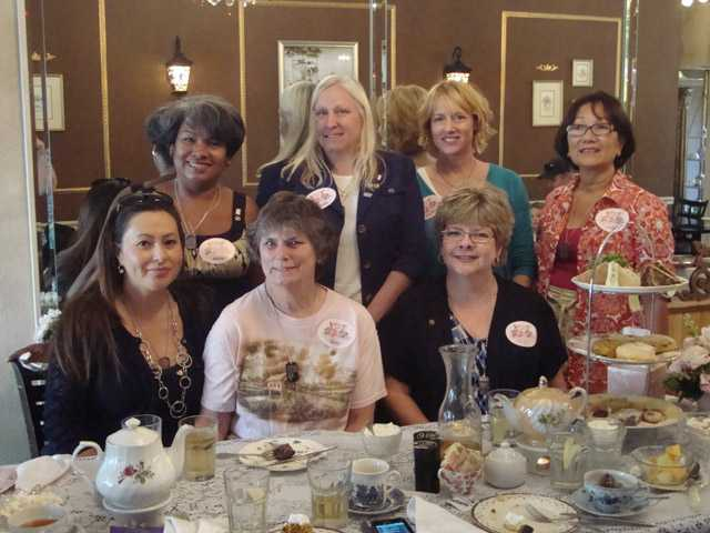 SCV Gold Star Mothers, left to right, bottom, Michelle Unthank, Kitty Conant, Kay Slocum, left to right top row, Silvia Sellen, Kathy Colley, Caroyln Acosta and Delia Gelig.