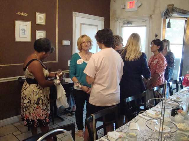 SCV Gold Star Mothers gather at The Tea Gardens in Saugus for the first Gold Star Mother's Day Tea in the SCV,
