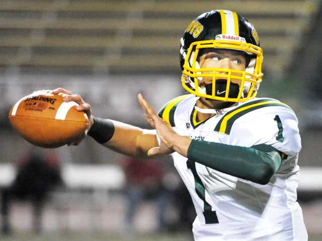 Canyon High quarterback Cade Apsay has shot out of the gates in his first season under center, leading the league with 2,939 yards and a school-record 35 TDs.