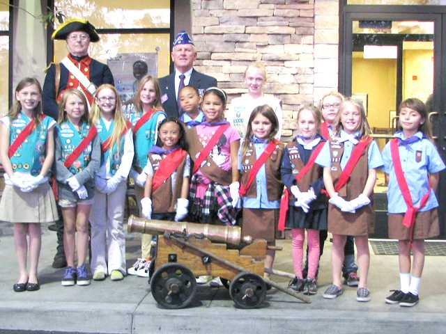 "Girl Scout Troop 5282 honored veterans Nov. 12 at a ""Thank a Veteran"" event and fundraiser at the Valencia Chick-Fil-A."