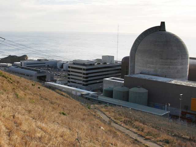 One of Pacific Gas and Electric's Diablo Canyon Power Plant's nuclear reactors in Avila Beach on California's central coast. California coastal regulators were set to weigh in Wednesday on a plan to map offshore earthquakes faults.