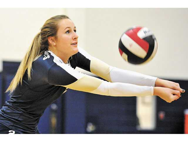 Dougherty leads the Mustangs with 409 kills and 52 service aces this season.