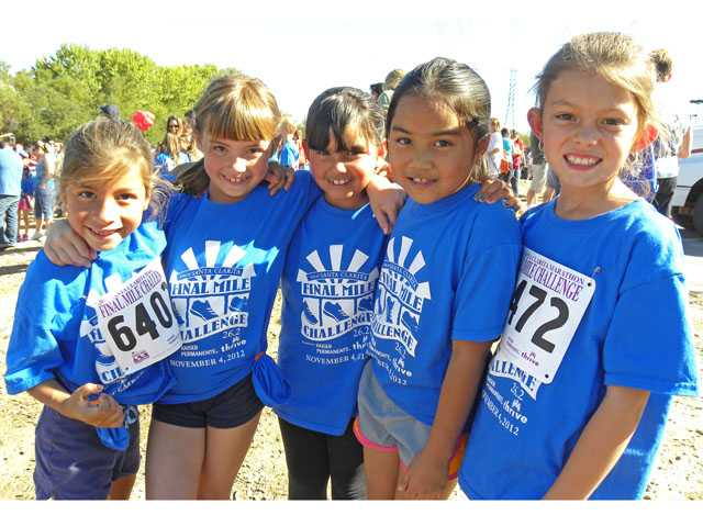 Students at Rosedell Elementary School in Saugus participated in the Santa Clarita Marathon's Final Mile Program.