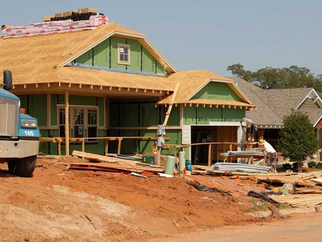 A new home is under construction in Oklahoma in September 2012. U.S. sales of new homes jumped in September to the highest level in more than two years.
