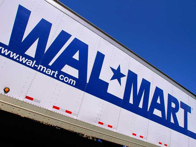 In this May 16, 2011 file photo, the Wal-Mart logo is displayed in Springfield, Ill.