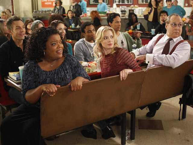"In this  image released by NBC, the cast of the comedy series ""Community"" is shown."