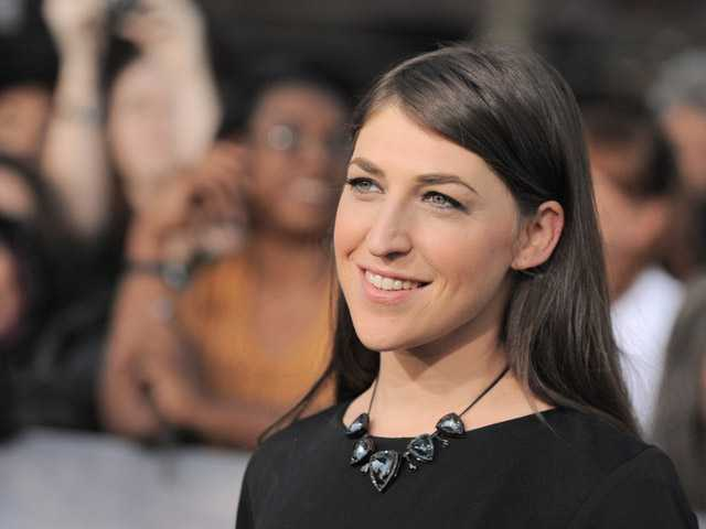 "Mayim Bialik attends the world premiere of ""The Twilight Saga: Breaking Dawn Part II"" at the Nokia Theatre on  Nov. 12 in Los Angeles."