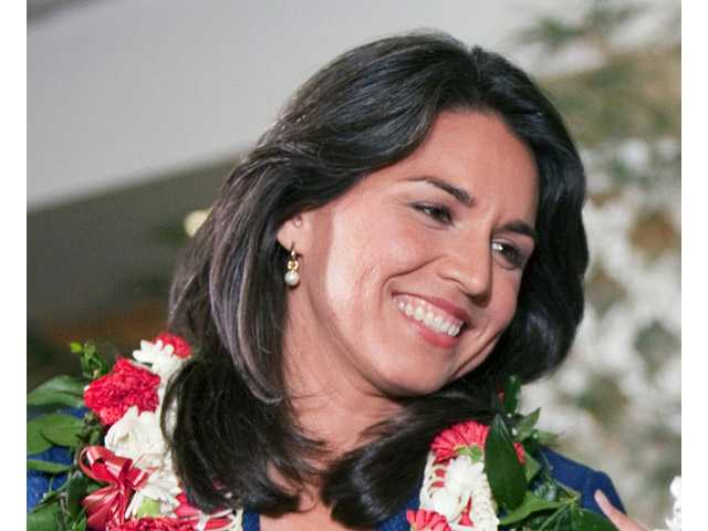 Iraq war veterans Rep.-elect Tulsi Gabbard in Honolulu.
