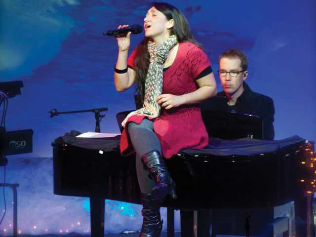 "Kelly Boek performs ""Christmastime is Here"" at last year's Christmas Concert."