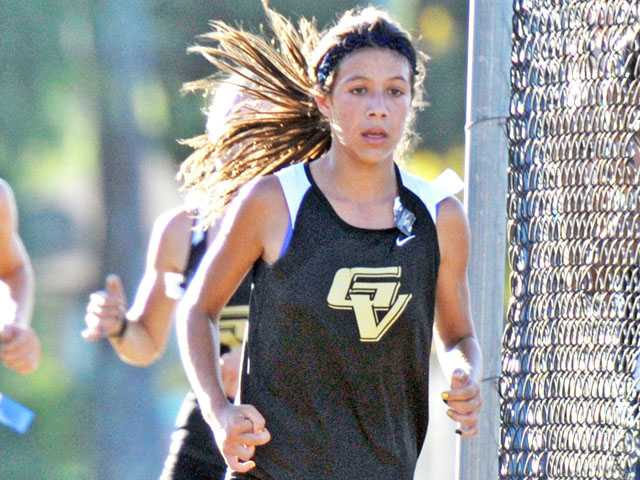 Golden Valley's Bianca Tinoco is one of two Grizzly runners competing as individuals, along with senior Nolan Del Valle (not pictured).