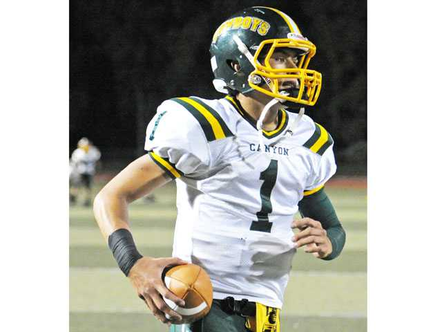 Canyon junior quarterback Cade Apsay was voted the Foothill League Offensive Player of the Year.