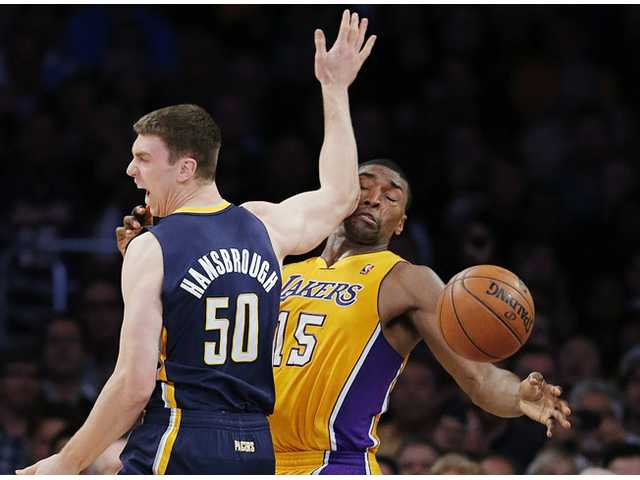 NBA: Hill's clutch shot pushes Pacers past Lakers 79-77