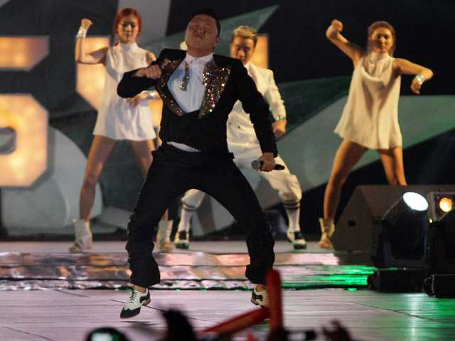 "South Korean rapper PSY, who sings the popular ""Gangnam Style"" song, performs concert in Bangkok,Thailand, Wednesday."