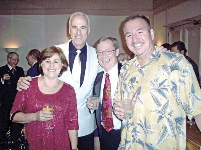 Left to right, Kim Greiner, G. Marshall Hann, Jeff Greiner and Mike Lebecki. Lebecki is a previous Tribute Dinner honoree.