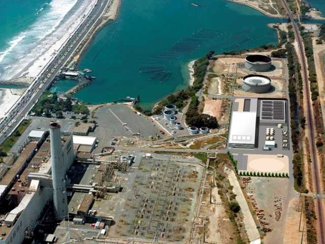 This image provided by the San Diego County Water Authority shows an artist rendering of a proposed desalination plant in Carlsbad, Calif. It would be the largest plant in the Western Hemisphere.