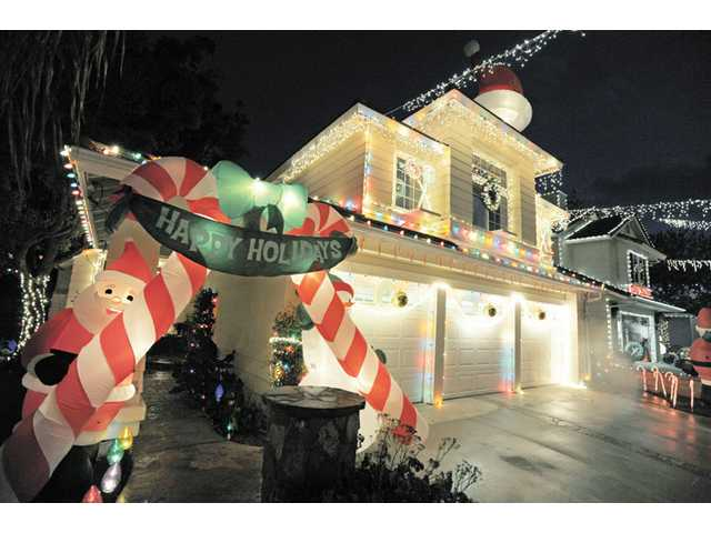 A home on Wakefield Court in Saugus is decorated for the holidays.