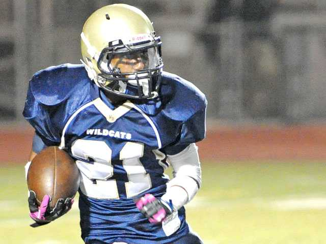 West Ranch running back Christian Parrish.