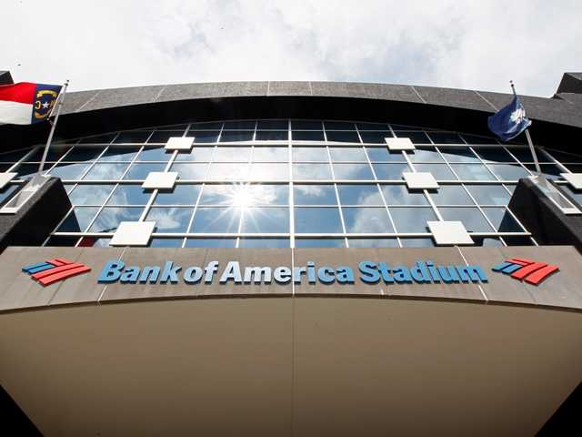 The Bank of America Stadium Aug. 2012 prior to an NFL preseason football game. U.S. banks earned more from July through September than in any other quarter over the past six years.