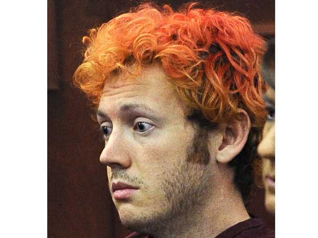In this July 23 photo, James Holmes appears in Arapahoe County District Court in Centennial, Colo.