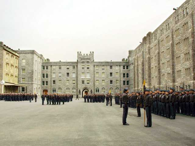 In this March 7, 2001 photo, United States Military Academy cadets stand in formation at the United States Military Academy at West Point, N.Y.
