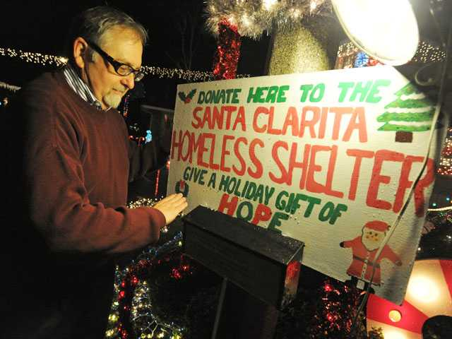 Mark Young is collecting donations at his home to benefit the Bridge to Home shelter.