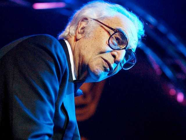 U.S. jazz legend Dave Brubeck performing on the Mustermesse stage at the AVO Session in Basel, Switzerland Nov. 2002. Brubeck, a pioneering jazz composer and pianist died Wednesday.